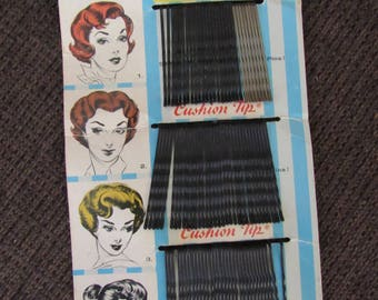 Vintage Sta-Rite Cushion Tip Bobby Pins 1960s Free Shipping