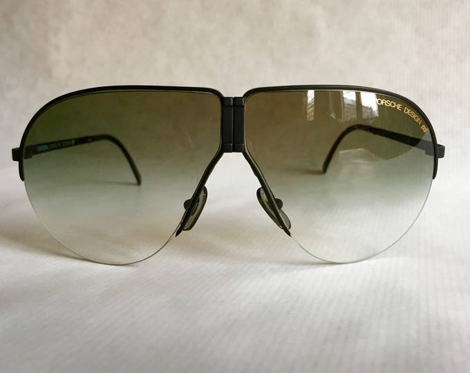 Porsche 5628 Folding Vintage Sunglasses including Case & Spare Lenses - New Old Stock