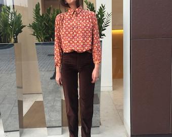 Gianni VERSACE Jeans vvelluto / NUOVI Mom Jeans Gianni Velluto / Versaci anni 90 pantaloni / Versace jeans velluto marroni / Pant velluto 42