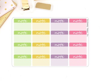 Note Small Rectangle Sticker - Bolder Colors