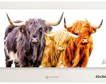 Highland Cow, Highland Cow Print, Hairy Cow, Scottish Art, Cattle Art Work, Scottish Art Prints, Farm Animal Wall Art, Hairy Coo