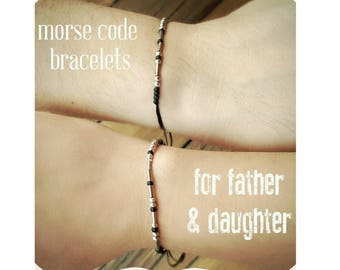 Father Daughter Morse Code Bracelets Fathers Day Gift from Daughter Gift Dad Gift for Dad Fathers Day Gift custom morse code dad matching