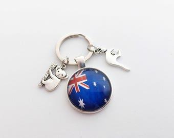 AUSTRALIA Keychain Australia Keyring Australia Gift Koala Keychain Koala Gift Koala Keyring Kangaroo Keychain Kangaroo Keyring Kangaroo Gift