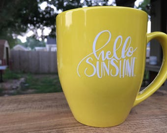 Hello Sunshine Mug, Yellow