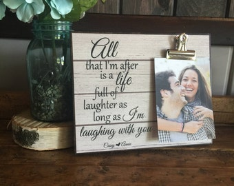 All That I'm After Is A Life Full Of Laghter As Long As I'm Laughing With You, Valentine's Day, Couples Gift, Birthday Gift, Christmas Gift