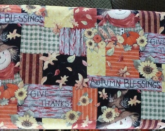 Autumn Blessings Scarecrow  fabric
