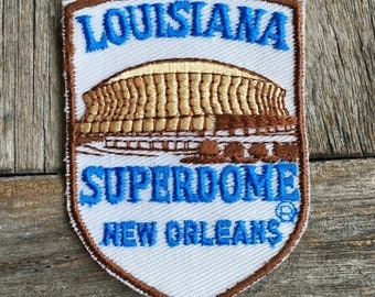 LAST ONE! Louisiana Superdome New Orleans Home of Jazz Vintage Souvenir Travel Patch from Voyager - New In Original Package