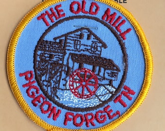 The Old Mill, Pigeon Forge, Tennessee Vintage Souvenir Travel Patch from Holm Patches