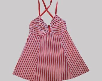 1940s Playsuit / Vintage 40s Swimsuit / S