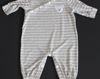 3 months old baby boy or girl  overall onesie