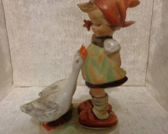 Vintage Hummel Goose Girl, Goebel, Germany