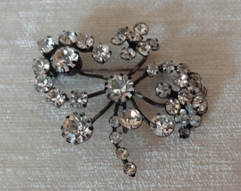Vintage Austrian Crystal Brooch, signed made in Austria