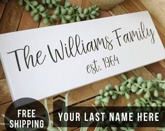 Last Name Sign, Established Sign, Last Name Established Signs, Family Name Sign, Wooden Last Name Signs, Family Name Sign Wood