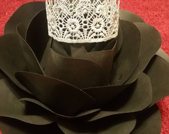 Silver Lace Crown