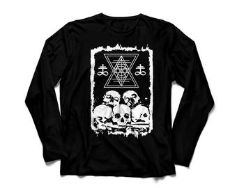Black long sleeve unisex t-shirt OSSUARY