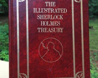 Sherlock Holmes - The Illustrated Sherlock Holmes Treasury Vintage Hardcover Book