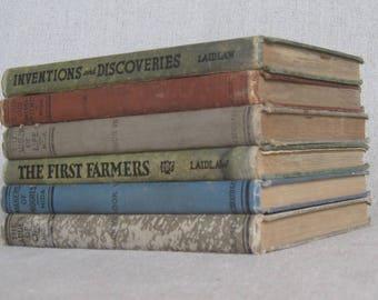 Vintage Shabby Book Bundle, Decorative Books