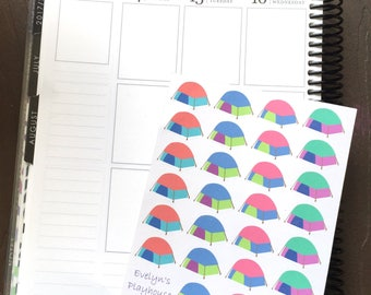 Camping / Camp / Tent Planner Stickers
