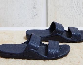 80s Grandco Croc Look Rubber Slip On Slide Sandals • 7