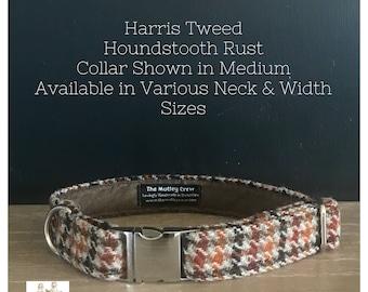 Harris Tweed Houndstooth Rust