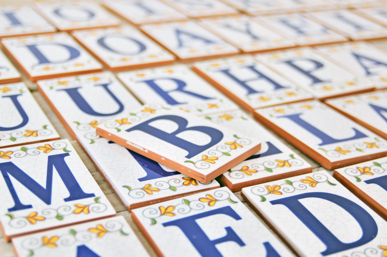 Custom tile letter 4 spanish traditional ceramic set zoom doublecrazyfo Gallery
