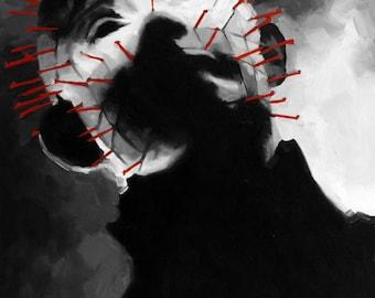 Pinhead Fine Art Print (Hellraiser - Cenobite - Clive Barker - Hell - Kink - BDSM - Pain - Horror - Doug Bradley - Icons)