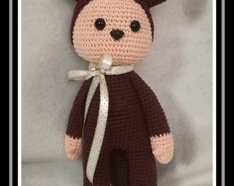 Little Fox is waiting for big hugs, Nathalie Sweet Stitches pattern