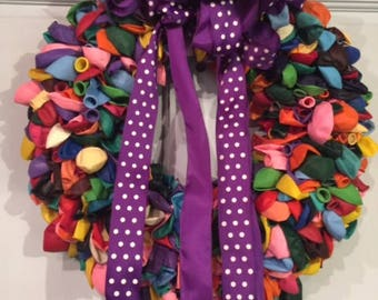 happy birthday balloon wreath