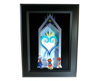 Kingdom Hearts Door to Darkness Shadow Box