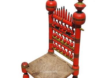 Antique Handpainted Punjabi Wedding Low Chair Punjabi Wedding Traditional Chairs