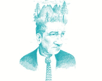 David Lynch Twin Peaks Illustration
