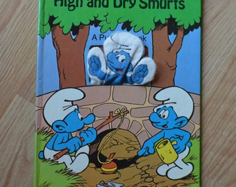 1983 High and Dry Smurfs A Puppet Book