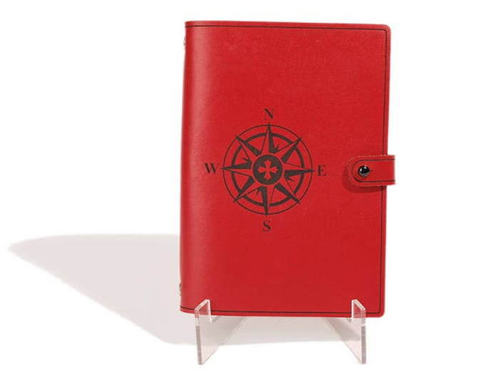 LEATHER JOURNAL - Compass Rose Design - Personalized Journals - Travel Journal - Diary
