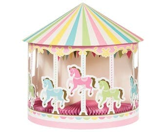 Carousel Centerpiece - Carousel Horse Party - Carousel Party Decorations - Carnival Baby Shower - Carousel Birthday Party - Horse Party