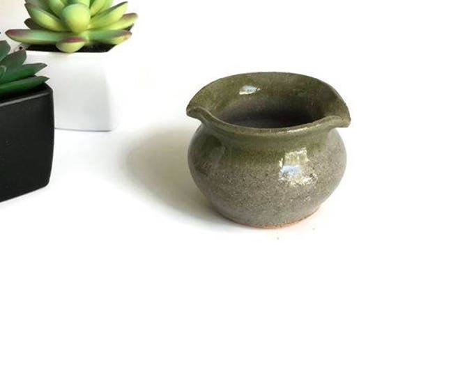 Vintage Tiny Ceramic Spouted Dish
