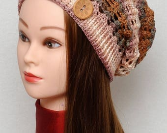 Womens Hats Crochet Hat Slouchy Hat Slouchy Beanie Fall hat Summer Hat Crochet Beanie Womens Accessories Gift for her Gift for Women beige