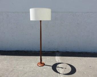 Danish Mid-Century Modern Teak Floor Lamp.