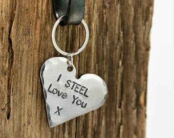 Steel Heart Keychain