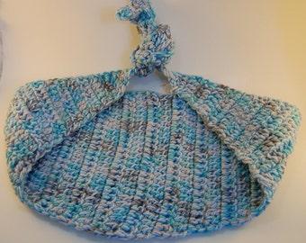 Newborn Hammock Photography Prop, Blue and White Newborn Hammock, Crochet Photo Prop Hammock, Cloud Photo Prop