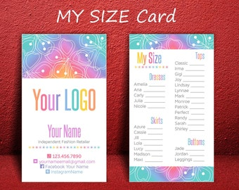 LLR My Size Cards * Home Office Approved Fonts & Colors * Business Cards * Business Card Size * Rainbow Design * My Size * Business Cards