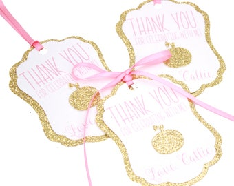 Personalized Our Little Pumpkin Thank You Favor Tags, Little Pumpkin Bag Tags, Our Little Pumpkin Is 1, Pumpkin Party Decorations