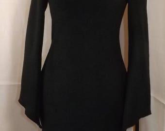 Sweater / tunic polar black elven fairy Sanlivine