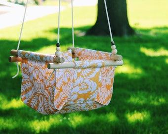 Baby swing, Toddler swing, indoor swing, outdoor swing, baby shower gift, fabric swing, baby gift, outdoor furniture, gift