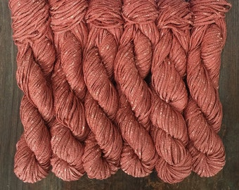 New 2/25! Berroco BONSAI Bamboo Yarn 9.99+.99ea to Ship - Shiny & Matte - Pickled Ginger 4129 Dark Peach - Soft, Weighty, Drapey. Gorgeous!