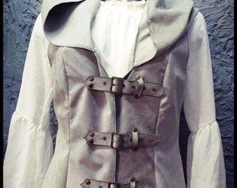 Leather Hooded Gilet