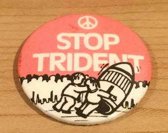 CND Stop Trident Anti Nuclear Badge