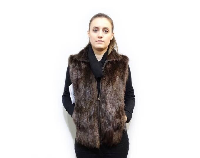 Real Fur Beaver,Pretty Birthday Gift F321