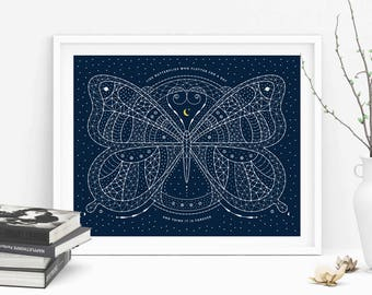 """Carl Sagan Cosmic Butterfly Art Print 