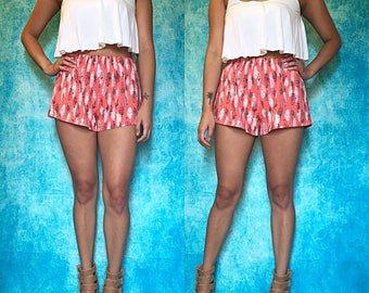 Feathers High Wiasted Shorts