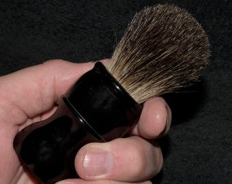 Barbershop Shaving Brush - 22 mm Black Badger